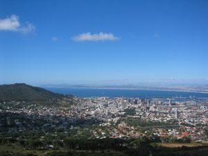 City Bowl in Kapstadt, mit Blick auf Oranjezicht